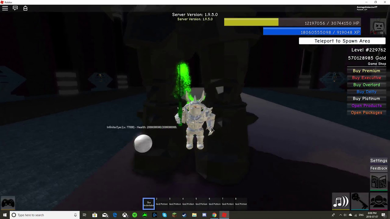 Roblox Infinity Rpg Canadian Paladin Defeated In 1 Minute By Zero Yang