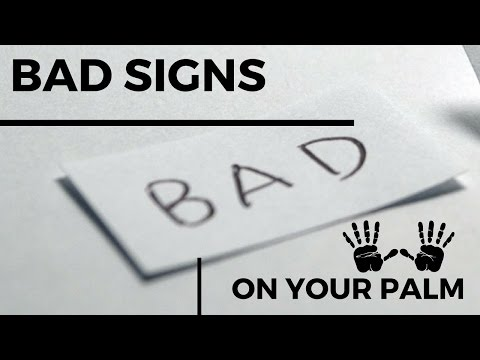 DO YOU HAVE THESE BAD SIGNS IN YOUR HAND?? (PALMISTRY)