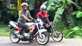 "Bumiayu Drag Bike Part 2.(Maning)  "" Vega 125cc VS Ninja R 150cc"" ajiib sung...."