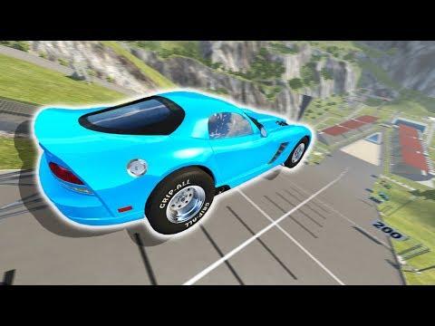 400 MPH DODGE VIPER VS CAR JUMP ARENA! - BeamNG Drive Dodge Viper Car Mod