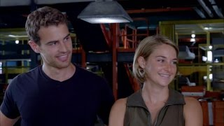 Exclusive: Shailene Woodley, Theo James Tackle 80-foot Wall Together For 'al