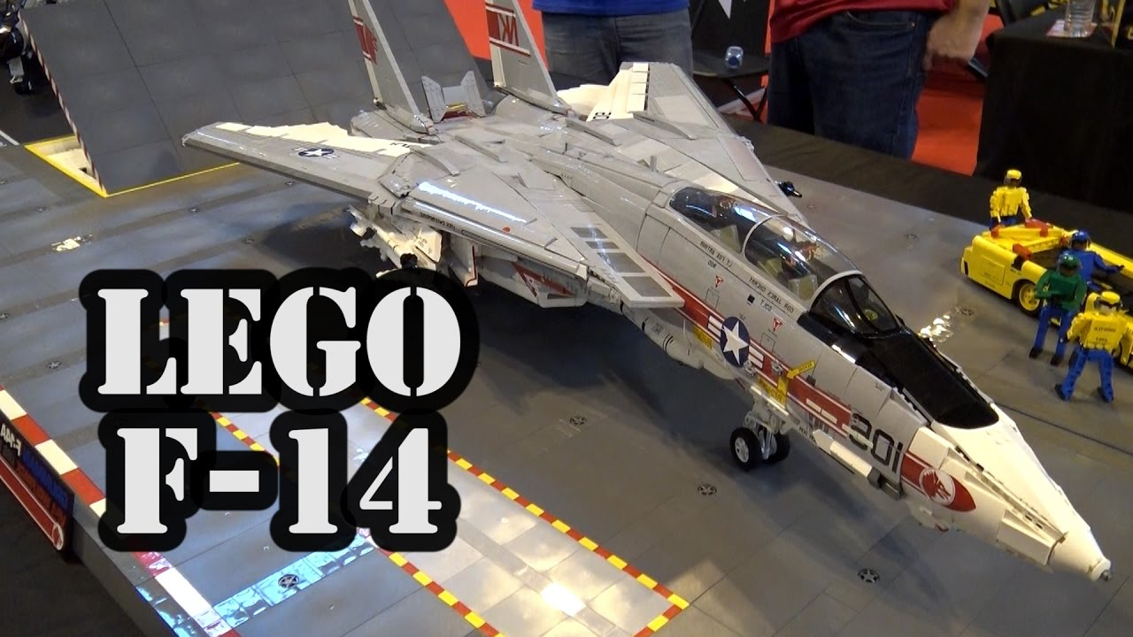 Incredibly Accurate LEGO F 14 Tomcat Navy Supersonic Airplane   YouTube