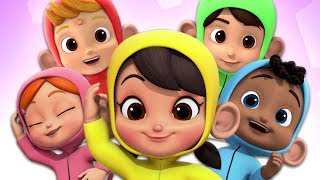 Five Little Monkeys jumping On The Bed | Nursery Rhymes and Kids Songs | Children Rhyme
