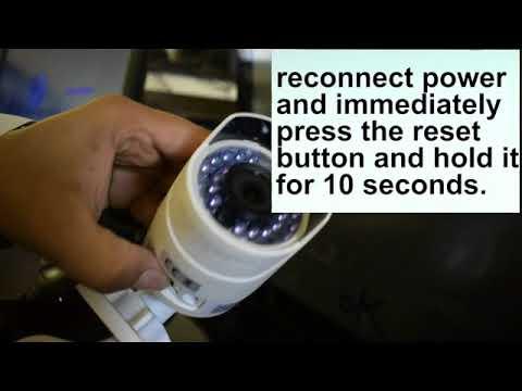 اعادة تعيين كلمة السر هيكفيجن How To Reset Hikvision Ip Network Bullet Camera To Default Settings Youtube