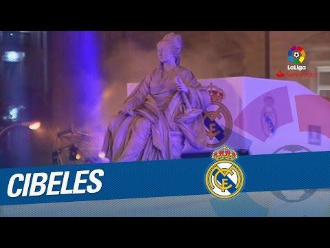 La Cibeles recibe al Real Madrid, campeón de LaLiga Santander 2016/2017