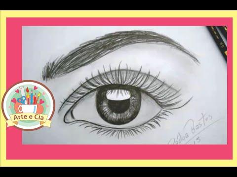 Como Desenhar Um Olho Realista Com Lápis Passo A Passo