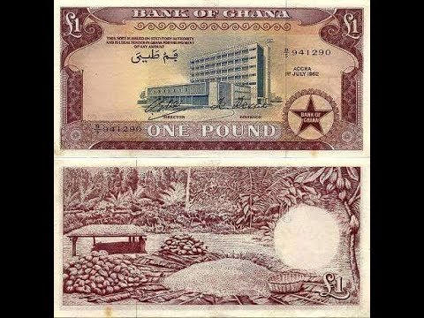 Ghana Currencies From Pounds, Shilling To Cedis