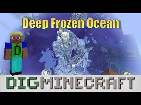 Explore the Deep Frozen Ocean Biome in the Minecraft Aquatic Update 1.13 by DigMinecraft