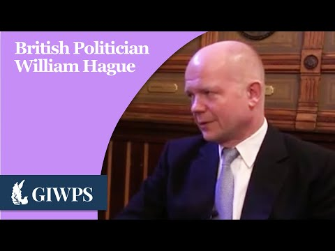 GIWPS Profiles in Peace: The Right Honorable William Hague
