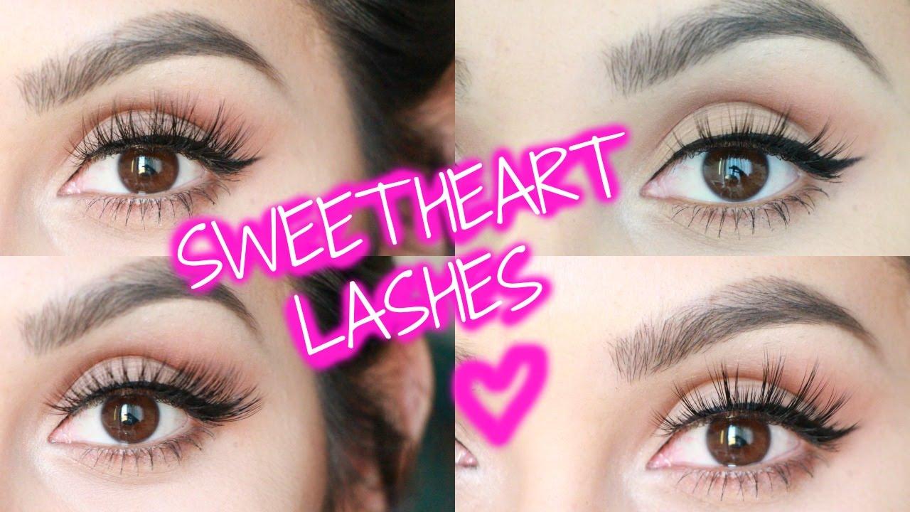 843da02301e Sweetheart Lashes Review/Demo (Mink Lashes) - YouTube