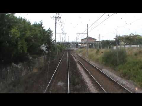 CABRIDE - In cabina della BB 107271 SNCF da Lourdes a Tolouse Matabiau
