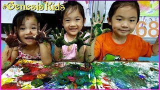 LEARN COLORS and Numbers Painting Homeschool FUN KIDS Activity for TODDLERS #68 Genesis Family +