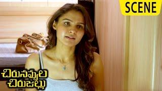 Andrea Blames Jiiva And Stops Add Shoot - Emotional Scene - Chirunavvula Chirujallu Movie Scenes