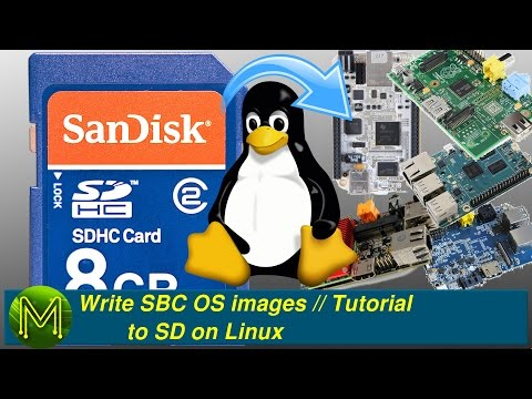 Write SBC OS images to SD on Linux // Tutorial