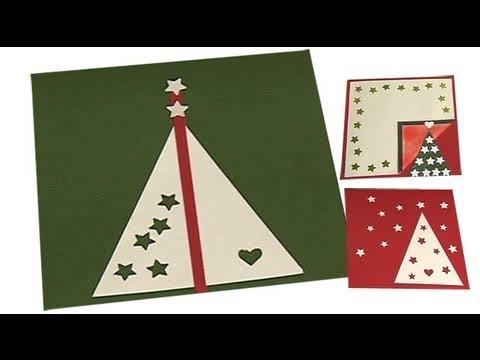 download video tarjeta de navidad con arboles estrellas y corazones