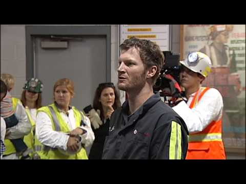 Dale Earnhart Jr. Visits Enlow Fork Mine