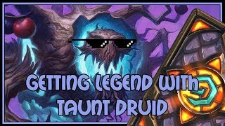 Getting legend with taunt druid | The Witchwood | Hearthstone