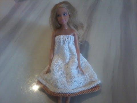 Tuto Tricot Robe Bandeau Pour Poupée Mannequin Explication Pendant Le Diaporama