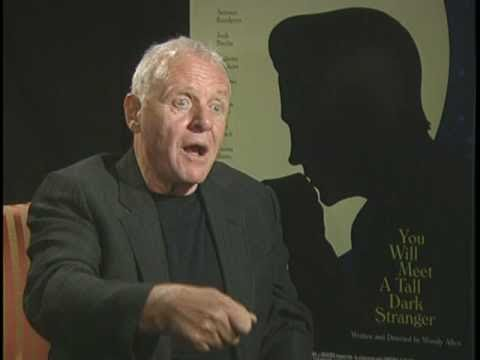 Anthony Hopkins Interview for Woody Allen's YOU WILL MEET A TALL DARK STRANGER