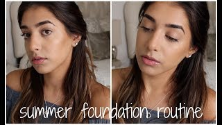 EASY 5 Minute SWEAT PROOF Foundation Routine for Summer