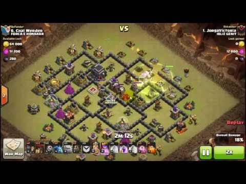 Clash Of Clans -  Attack Strategy TH9 GOLALOON (BAHASA INDONESIA)