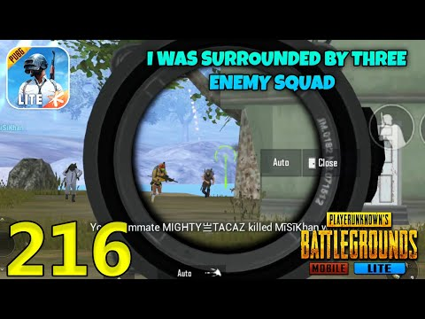 I Was Surrounded By Three Enemy Squads   PUBG Mobile Lite