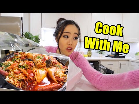 Cooking The BEST KIMCHI WRAPPED NOODLE STEW RECIPE From My Mukbang! - VLOGMAS