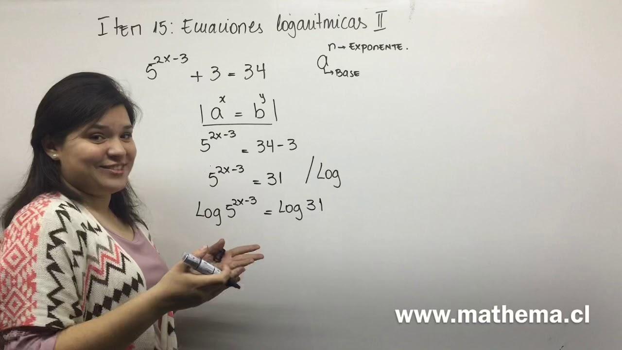 Ítem 15b logaritmos - YouTube