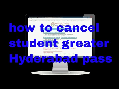 how to cancel student greater Hyderabad pass, here is the process