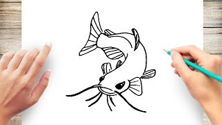 How to Draw CatFish Step by Step for Kids