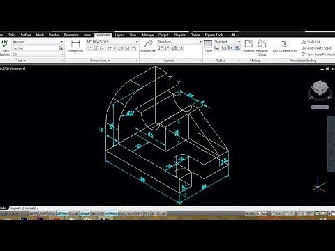 AUTOCAD MECHANICAL MODELING PART2 -   DIMENSIONING A 3D MODEL