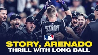 Story, Arenado thrill with long ball