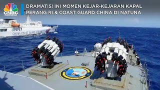 Sengit! Kapal Perang RI vs Coast Guard China di Laut Natuna