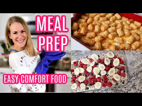 BULK MEAL PREP WITH ME! 💕 My Favorite Comfort Foods... On A Dime!