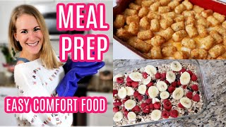 BULK MEAL PREP WITH ME! ? My favorite comfort foods... on a dime!