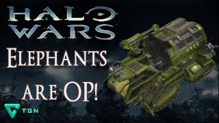 Elephants are OP! - Halo Wars Strategy - Multiplayer 1v1 - Brute Chieftain Cutter Tricks Tips