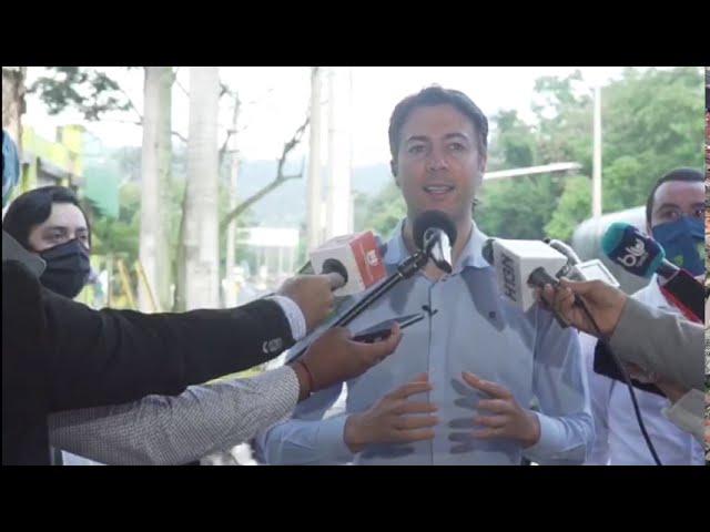 El alcalde Daniel Quintero lideró la inauguración de la ciclorruta de la calle Barranquilla