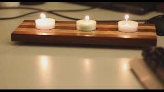 004 - Wooden tea-light candle holder (no comment build)