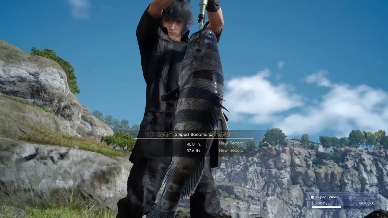 Final fantasy xv how to catch really big fish for gill and for Final fantasy 15 fishing