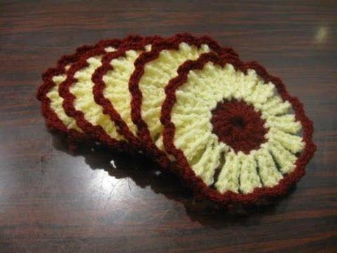 Flower Coaster Crochet Tutorial Youtube