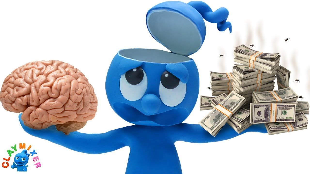 Money or Mind? - Clay Mixer Stop Motion Animation