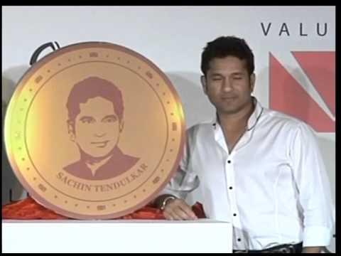 Sachin Tendulkar gold coins launch in mumbai