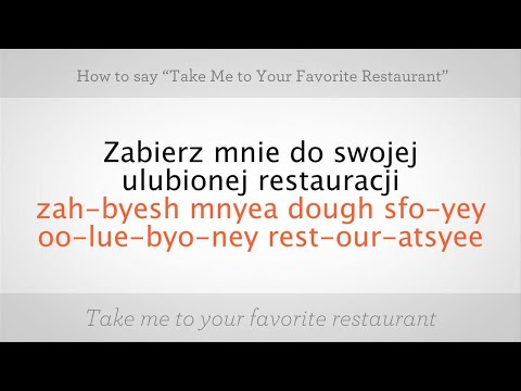 "Say ""Take Me to Your Favorite Restaurant"" 