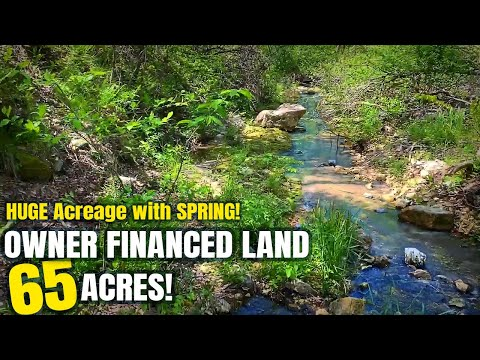 Large Acreage For Sale With Owner Financing In MO! 65 Acres W/ SPRING For Only $1,500 Down - ID#HC06