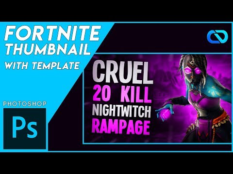 How to make Fortnite Thumbnails (Free Template)