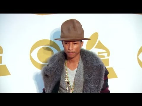 Pharrell Williams Auctions Off Hat For Charity | Splash News TV | Splash News TV