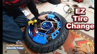 How To Change Balance Motorcycle Tires EASY
