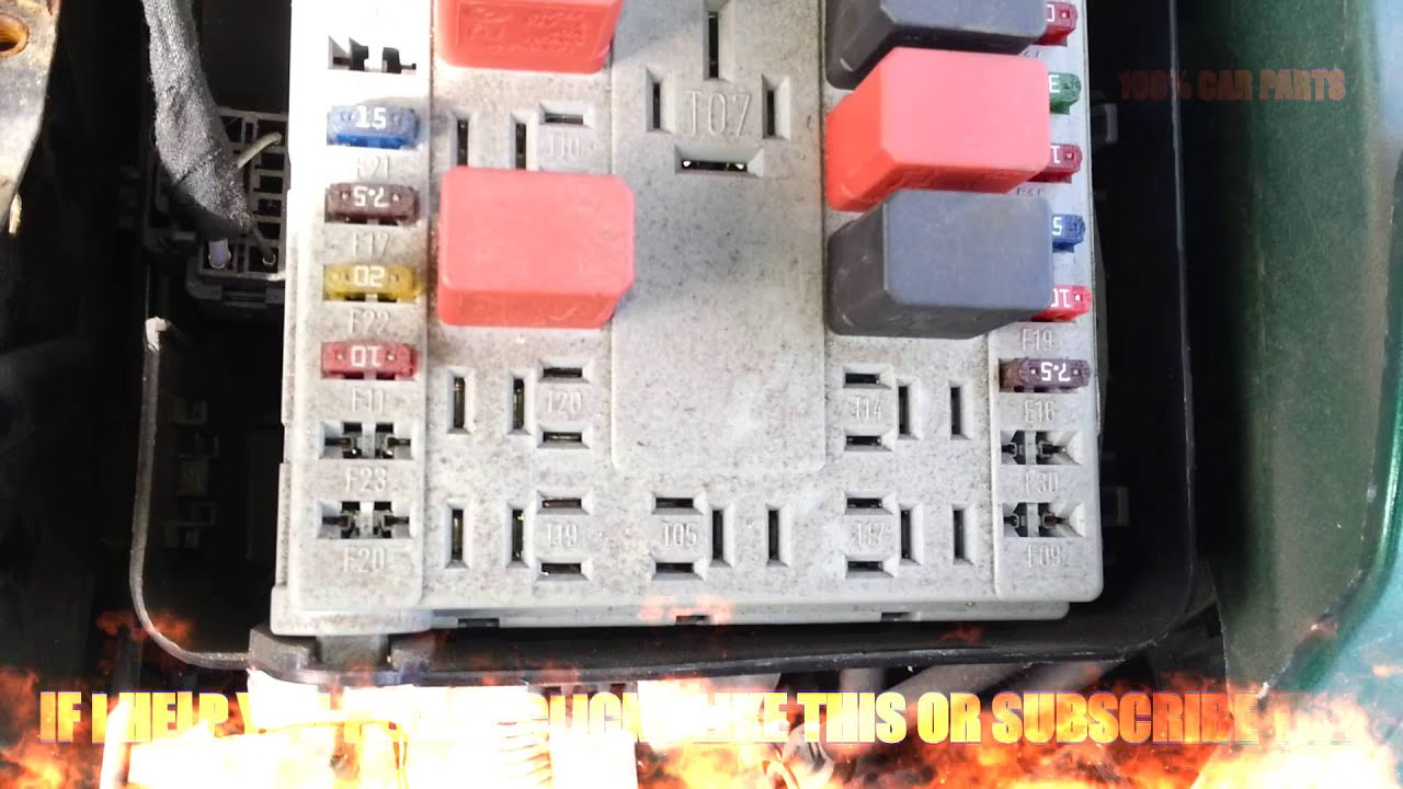 Fiat Punto Relays Fusebox Youtube