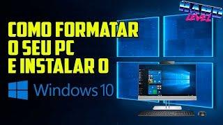 Como formatar o PC e instalar o Windows 10 e drivers - Tutorial Completo e Simples!