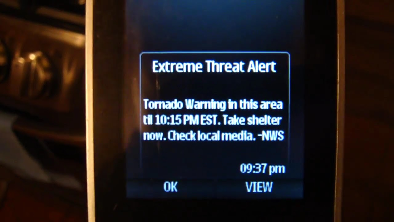 Extreme Tornado Warning EAS Alert On Boost Mobile Cell ...